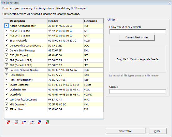 Forensic Software - Filesig - Automate Extraction of SQLite database