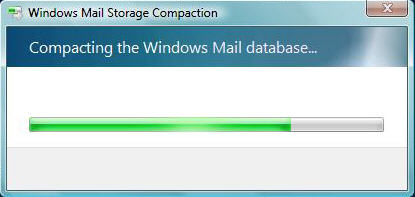 Windows Mail Compress Progress