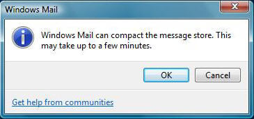 Windows Mail Compress
