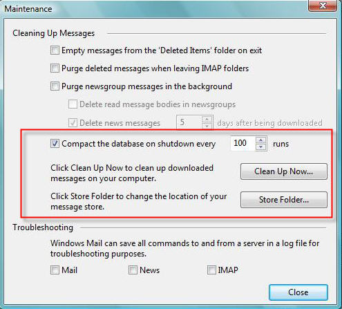 Windows Mail Settings